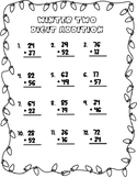 Winter Two Digit Addition (With Regrouping)