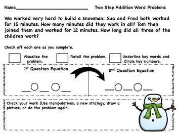 Winter Two Part or Multi-Step Word Problems