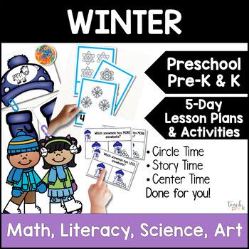 All About Winter Unit/Lesson Plans for Preschool, PreK, K, & Homeschool!