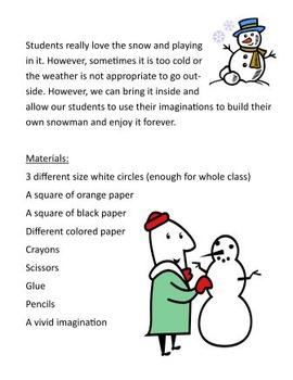 Winter Unit - How do you Build a Snowman?