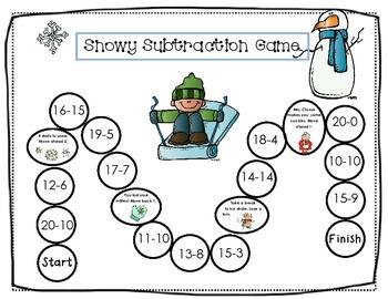Winter Unit, K-1 Math and Literacy Activities