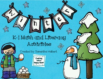 Winter Unit, K-1 Math and Literacy Activities