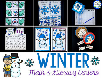 Winter Math and Literacy Centers for Pre-K and Kindergarten {BUNDLE}