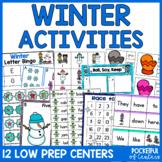 Winter Centers: Math & Literacy Activities for Pre-K & Kindergarten BUNDLE