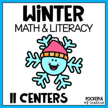 Winter Math and Literacy Centers for Pre-K and Kindergarten