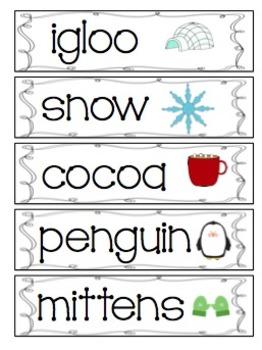 *Winter Unit Words--FREEBIE!*