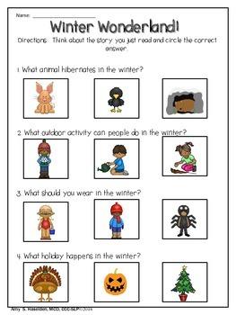 Winter Speech Therapy