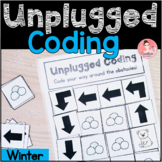 Winter Unplugged Coding Activity for Beginners (English an