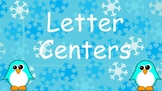 Winter Upper and Lowercase Letter Matching Center