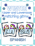 Winter Upper and Lowercase matching game Spanish characters
