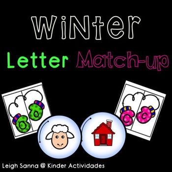 Winter Uppercase / Lowercase Letter Match up (includes Spa