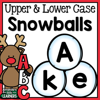 Winter Uppercase and Lowercase Letter Snowballs