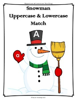 Winter Uppercase and Lowercase Match