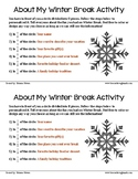 Winter Vacation Fraction Activity