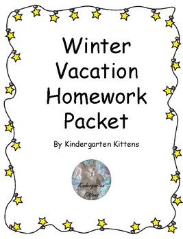 Winter Vacation Homework Games and Journal