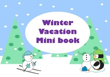 Winter Vacation Mini Book