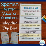 Spanish Interactive Flip Book Winter Vacation Questions