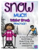 Winter Vacation - Winter Break 10 Day Homework Packet and