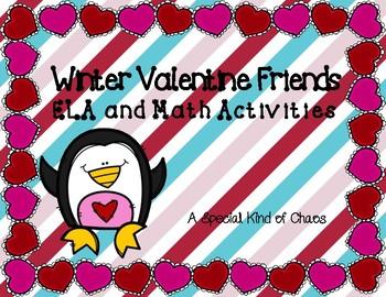 Winter Valentine Friends ELA and Math Activities