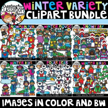 Winter Variety Clipart Growing Bundle {Winter Clipart}