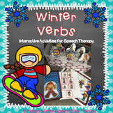 Winter Verb Interactive Activities for Speech Therapy