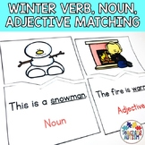 Winter Verb, Noun and Adjective Matching | Task Boxes for Special Education