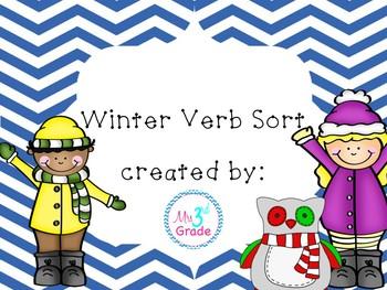 Winter Verb Sort