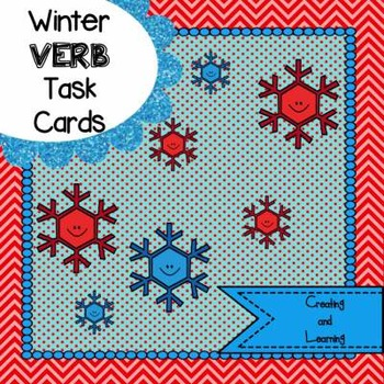 Winter Verb Task Cards