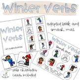Winter Verbs Adapted Book // Speech Therapy // Grammar