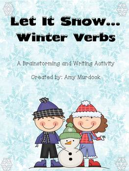 Winter Verbs Differentiated Writing Activity