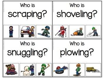 Winter Verbs!  Grammar Activities for Verb Tense & Sentences