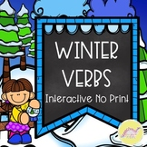 Winter Verbs Interactive NO PRINT