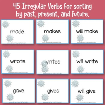 Winter Verbs    Past, Present, and Future