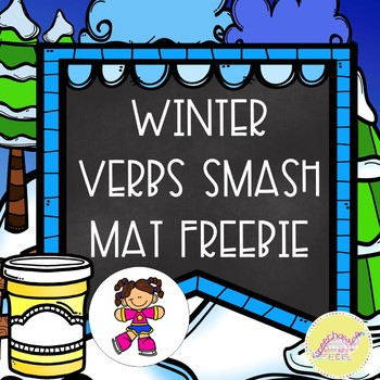 Winter Verbs Smash Mat Freebie