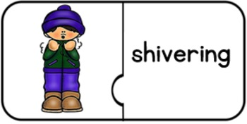 Winter Verbs/ Suffix –ing: Jigsaw Puzzles with Visuals