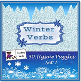 SALE! Winter Verbs/ Suffix –ing: Jigsaw Puzzles with Visuals