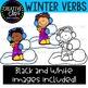 Winter Verbs: Winter Clipart {Creative Clips Clipart}