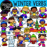 Winter Verbs: Winter Clipart {Creative Clips Clipart}