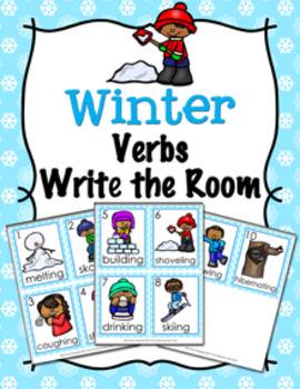 Winter Verbs Write The Room Activity