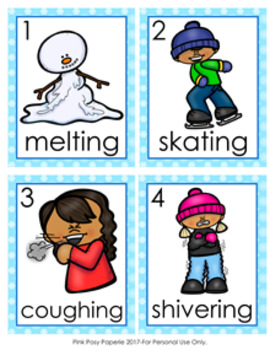 Winter Verbs Write The Room Activity