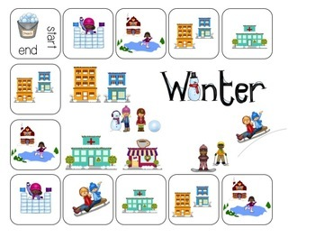 Winter Village: Grammar Activities