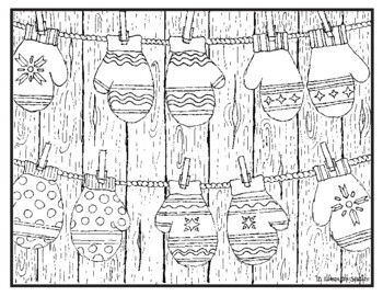 Winter Christmas Holiday Visual Arts Coloring Pages Highly Detailed