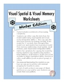Winter Visual Spatial Worksheet Bundle