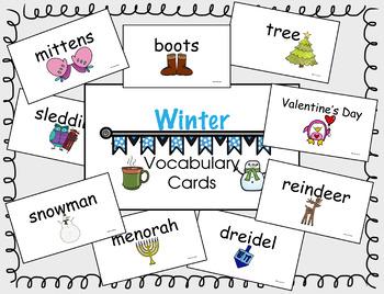 Winter Vocab Cards