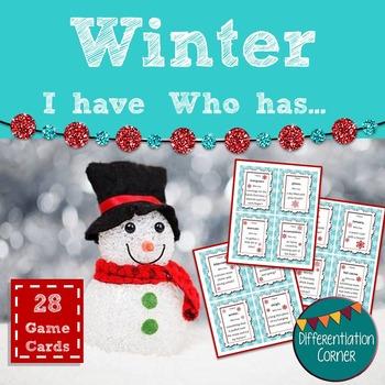 Winter Vocabulary Activity