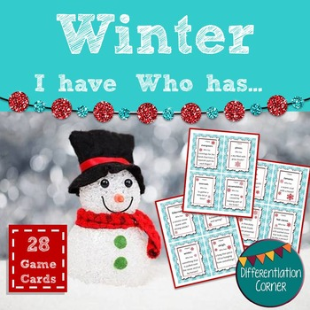 Winter Vocabulary Activity
