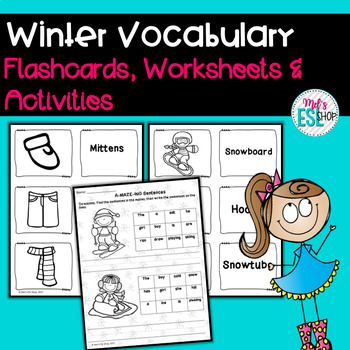 Winter Vocabulary Activities and Worksheets ESL