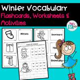 ESL Winter Vocabulary- Flashcards, Worksheets & Activities