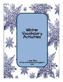 Winter Vocabulary Activities