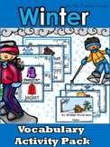 Winter Vocabulary Activity Pack